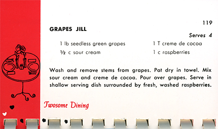 Grapes Jill shared recipe from Have Cookbook Will Marry
